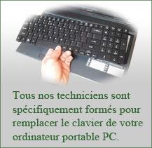 Changement clavier par professionnels