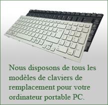 changement clavier portable PC