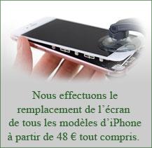 Changement écran iPhone