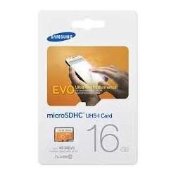 Carte micro SD EVO 16GB sans adaptateur