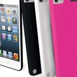 Muvit Pack 3 Coques Silicone Noir Rose Blanc Ipod Touch 5 + Film