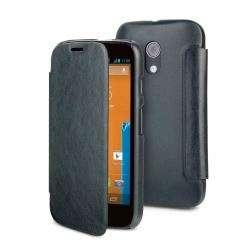 Muvit Etui Easy Folio Noir Pour Motorola Moto G