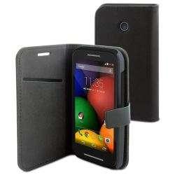 Muvit Etui Folio Noir Pour Motorola Moto E