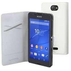 Etui folio pour Sony Xperia E4 Blanc