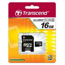 Carte Micro SD 16GB Transcend