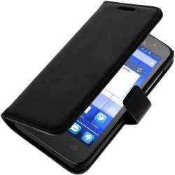 Muvit Etui Folio pour Alcatel One Touch M Pop Noir