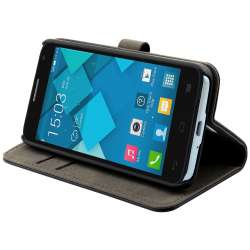 Muvit Slim S Folio Etui pour Alcatel One Touch Idol 2 Mini S Noir