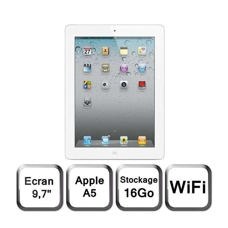 ipad air 2 wi fi 16 go reconditionn blanc. Black Bedroom Furniture Sets. Home Design Ideas