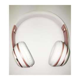 Casque Sans Fil Bluetooth Portable Pliable S480 blanc/rose