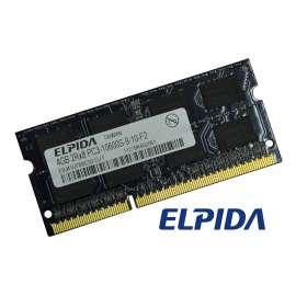 Barrette Mémoire RAM Sodimm 4Go DDR3 PC3-10600S Elpida EBJ41UF8BCS0-DJ-F CL11