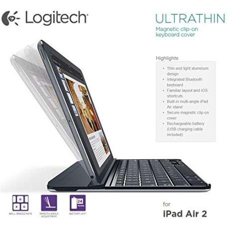 Etui folio LOGITECH avec clavier bluetooth pour tablette iPad AIR 2