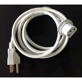 Câble Alimentation US 3 Broches vers C13 CEI  2 m noir/blanc
