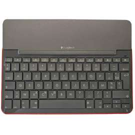 CLAVIER Etui iPad Air 1 Logitech CANVAS ROUGE